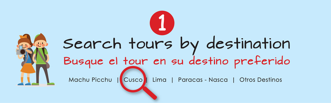 Search tours by destination