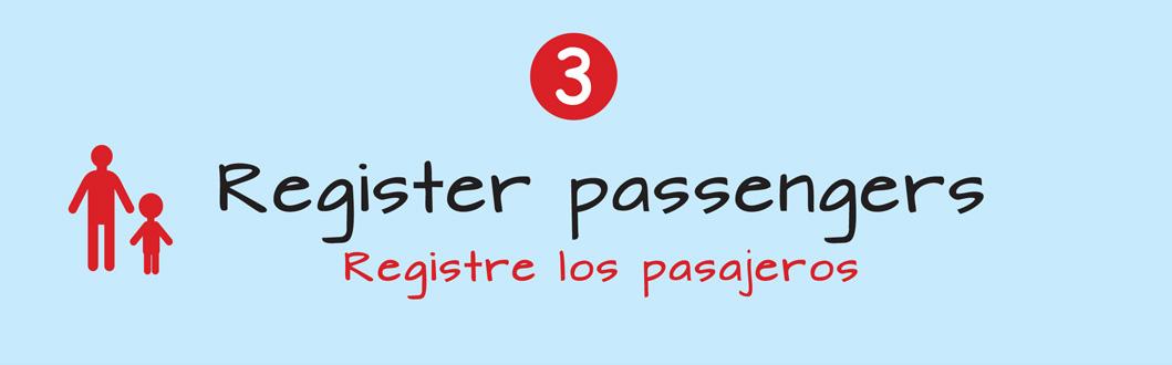 Register passengers